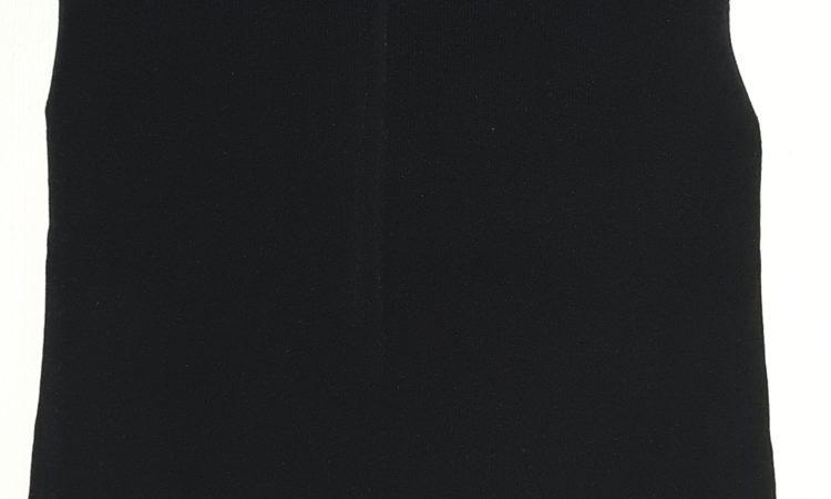 top noir à franges